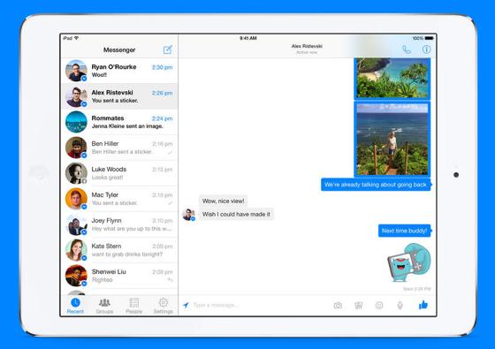 Facebook Messenger iPad iOS