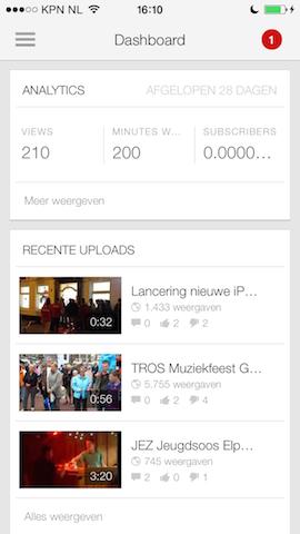 YouTube Creator dashboard