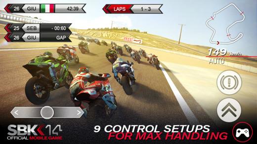 SBK14 motorracegame besturingen