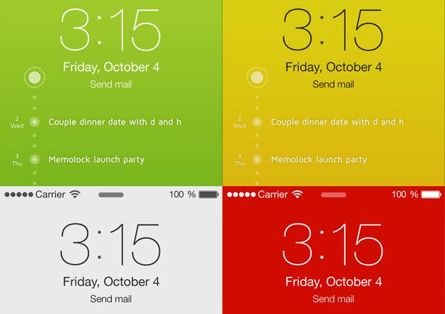 Verschillende lockscreens iPhone