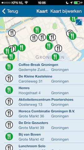 Horeca Inspectiekaart resultaten Groningen