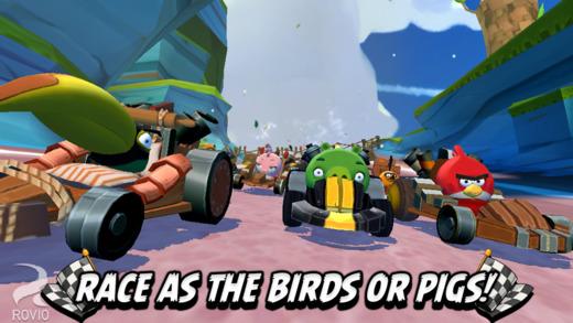 Angry Birds Go racen als varken of vogel