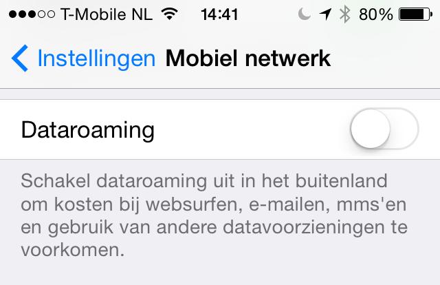 Roaming iOS 7