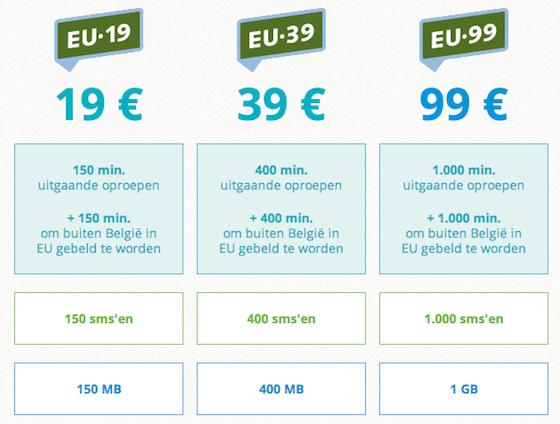 Base Europese abonnementen