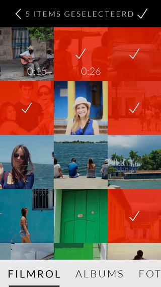 Replay Video Editor fotoalbum selecteren