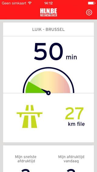 HLN Nieuwswekker iPhone kilometer teller