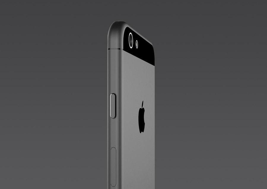 iphone 6 render zijkant grijs