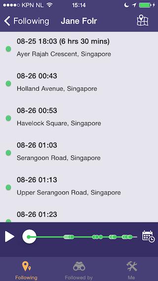 Folr iPhone locatiegeschiedenis