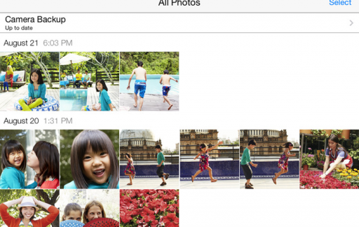 Microsoft OneDrive fotoalbum iPad