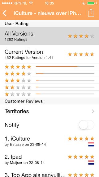 Reviews iPhone scores iCulture app