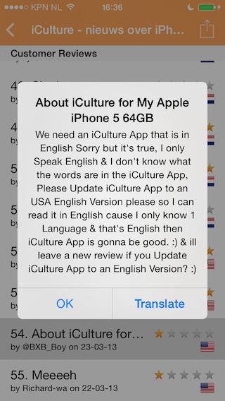 Reviews recensie toegelicht iPhone