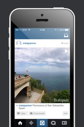 Instapan panorama in Instagram