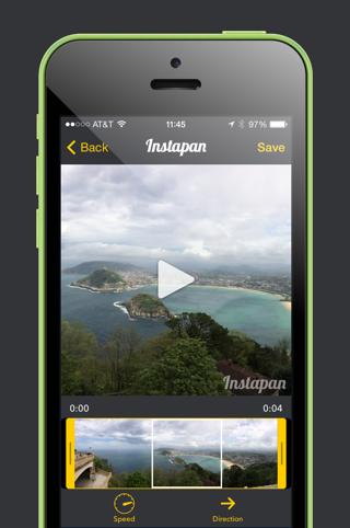 Instapan Instagram panorama edit