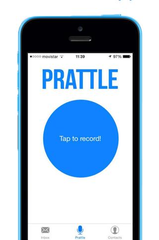 Prattle Snapchat voor spraakberichten iPhone