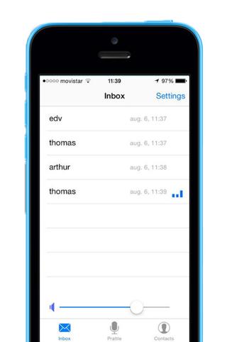 Prattle Snapchat voor spraakberichten inbox