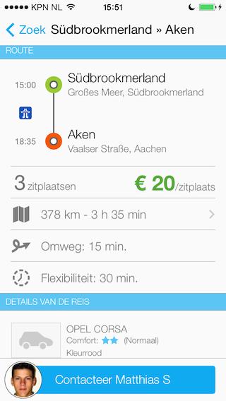 BlaBlaCar iPhone ritdetails