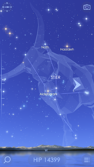 Star Walk 2 iPhone hemellichaam