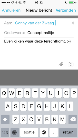 Mailbox iPhone draft schrijven