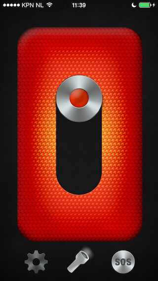 Panik alarm gaat af iPhone