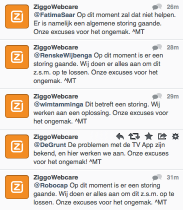 ziggo storing tweets