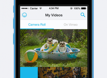 Vimeo video's uploaden iPhone
