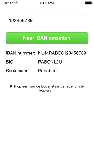 IBAN Converter iPhone