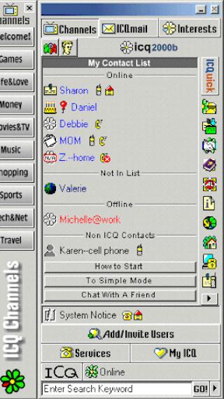 ICQ op de pc vroeger 320 breed