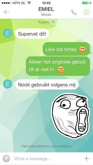 ICQ 2014 chatten met stickers