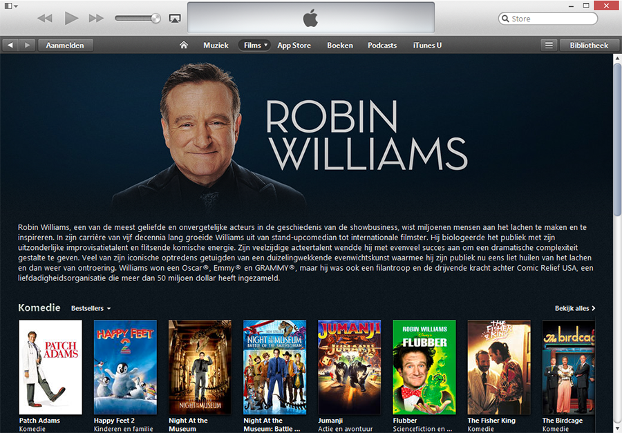 Robin Williams iTunes