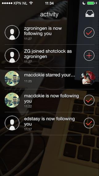 Shotclock activiteit