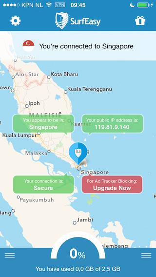 SurfEasy VPN verbinding aanleggen