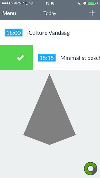 Minimalist app afvinken