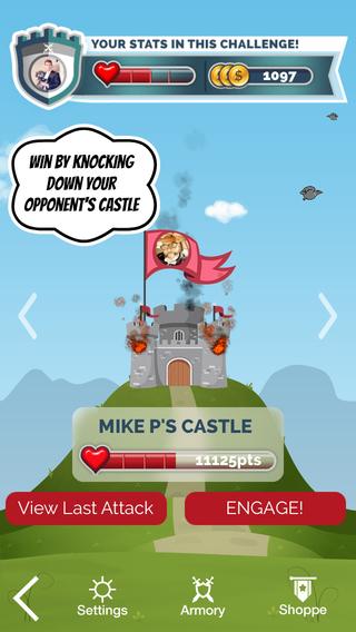 Fitness Faceoff kasteel belegeren