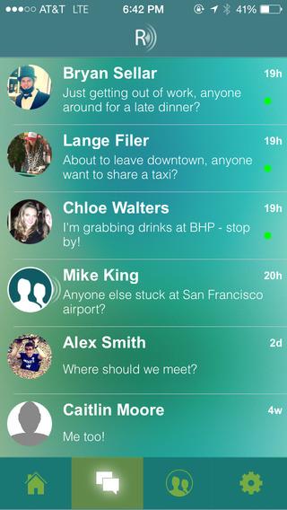 Range Messenger openstaande chats