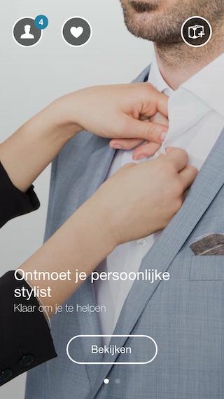 Outfittery stylist introscherm