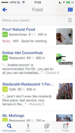 Foursquare overzicht Groningen
