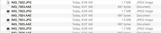 iOS 8 AAE bestandsformaat