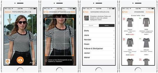 Zalando kleding scannen iPhone