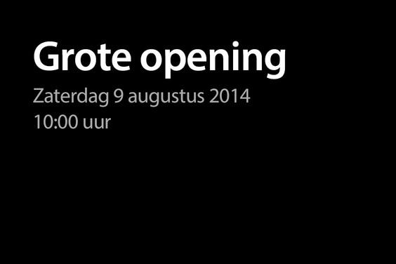 Apple Store Den Haag opening plaat