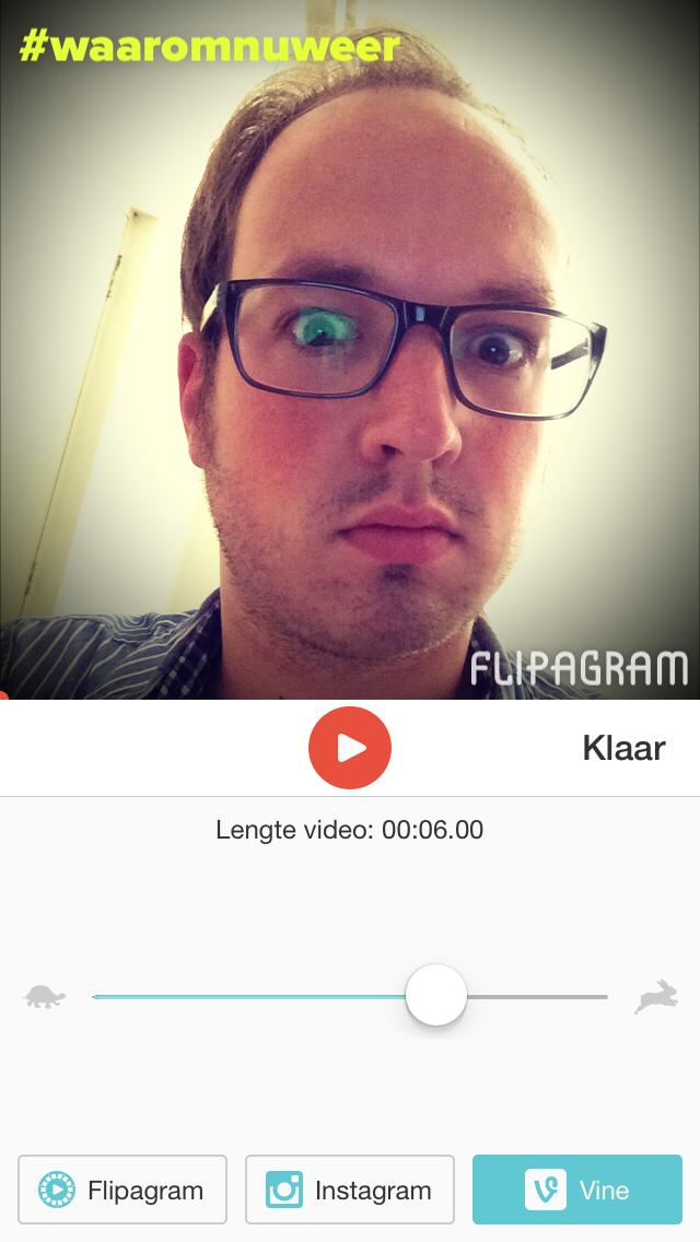 Flipagram selfie lengte aangeven