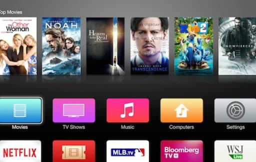 Apple TV beta nieuw hoofdscherm