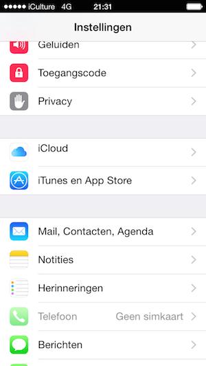 Nieuw iCloud-icoon