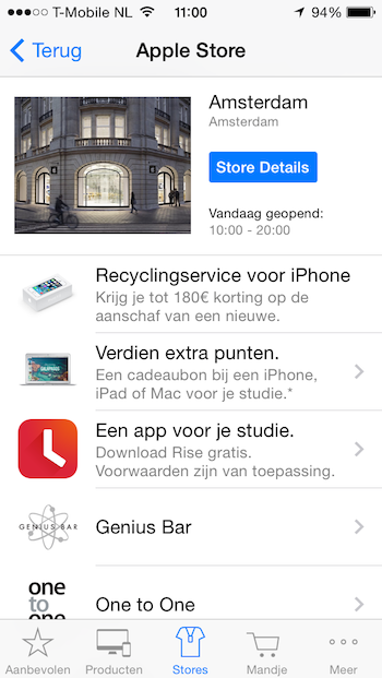 Recyclingservice iPhone