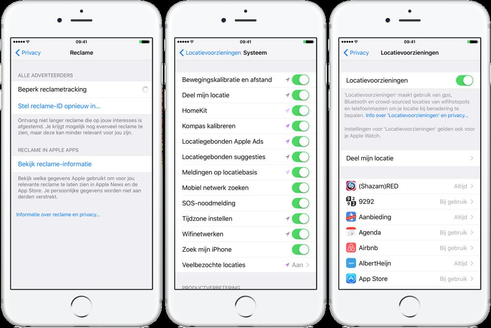 iPhone privacyvoorzieningen