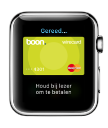 Apple Pay op een Apple Watch.