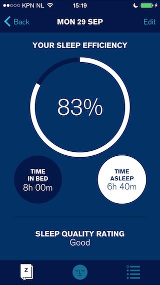 Sleepio review iPhone tijd geslapen