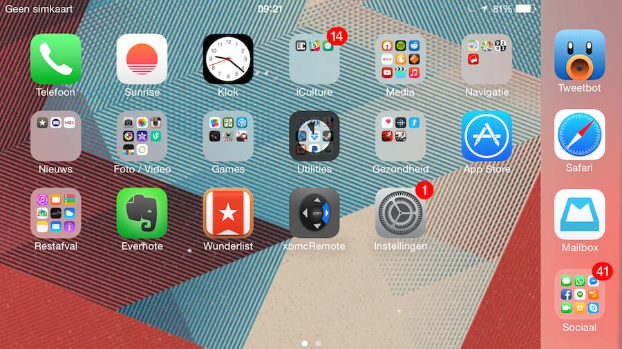 iPhone 6 Plus landschap dock