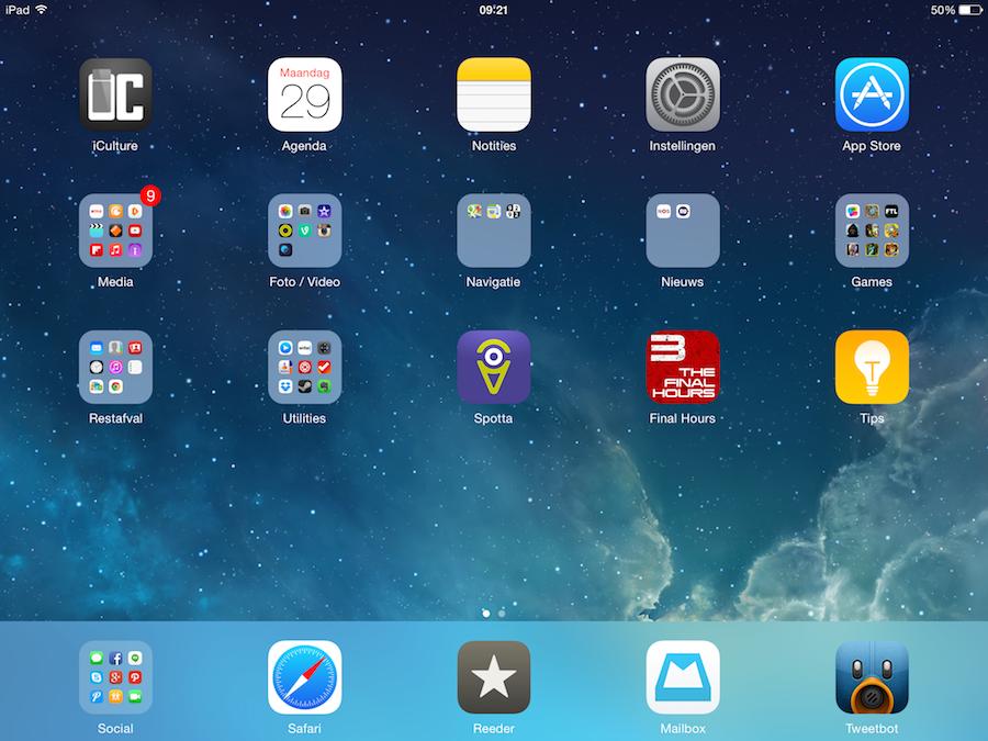 iPad landschap dock