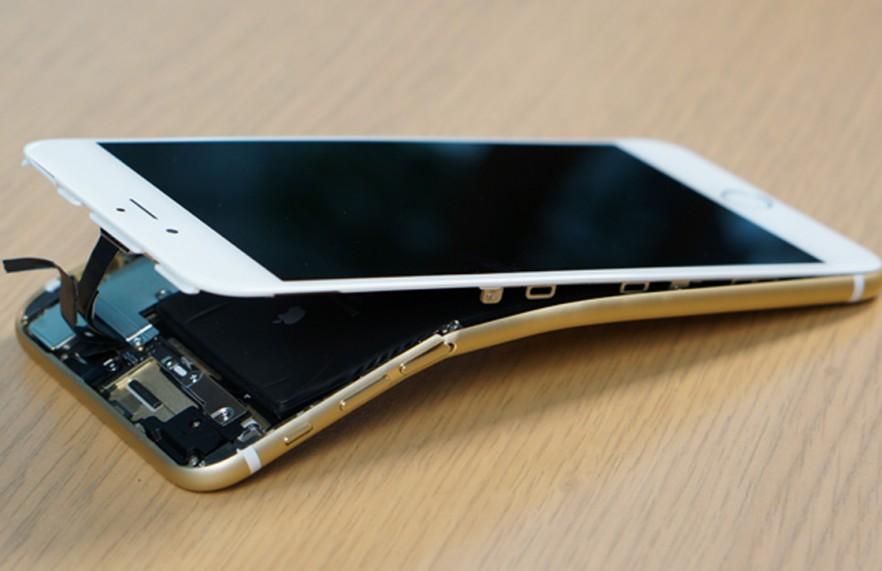 gebogen iphone