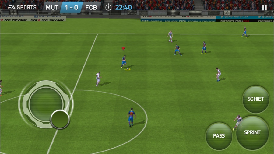 FIFA 15 voor iPhone Ultimate Team sprint trekken